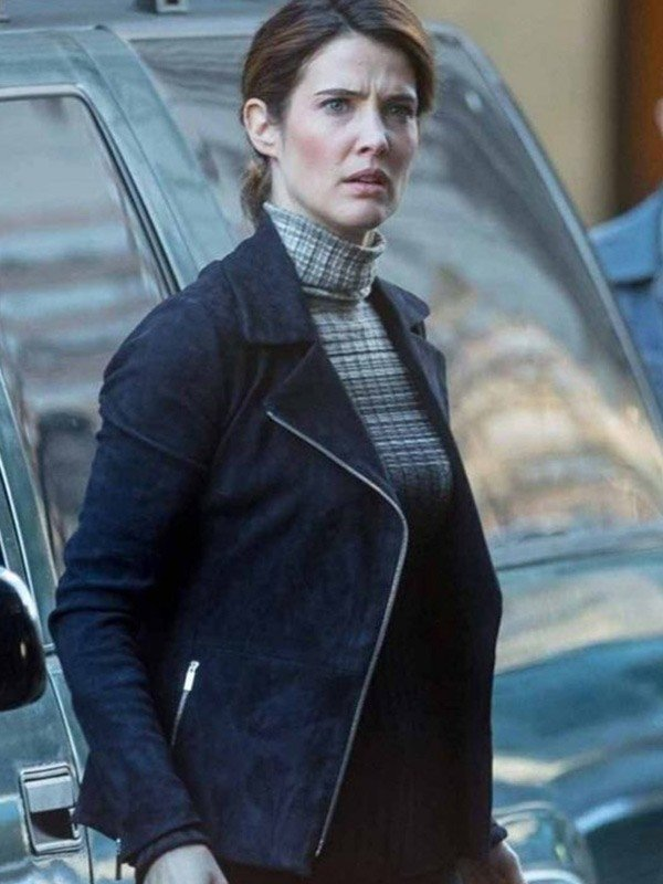 Spiderman Far from Home Cobie Smulders Suede Leather Jacket