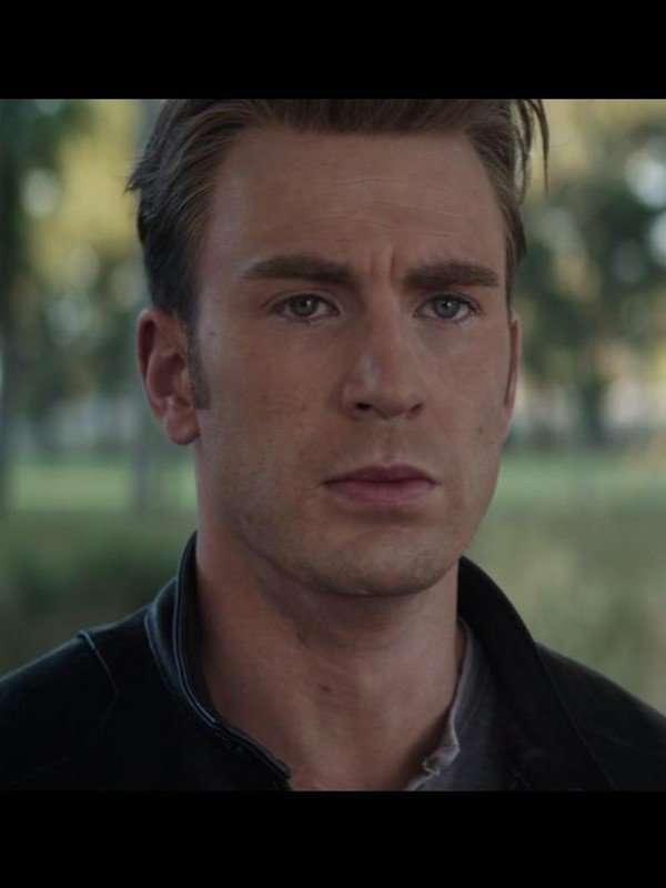 Steve Rogers Avengers Endgame Black Leather Jacket