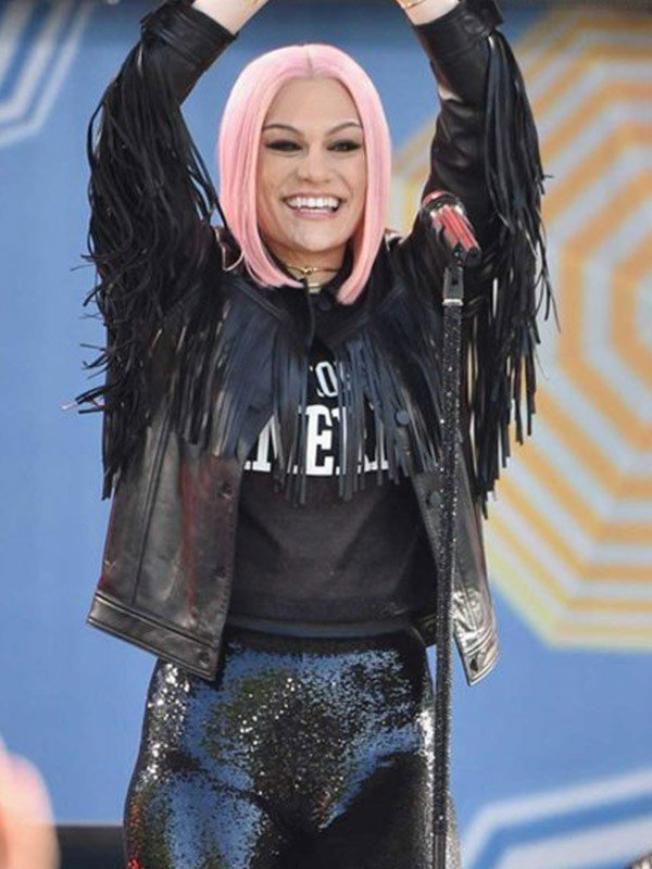 Stylish Jessie J Leather Jacket