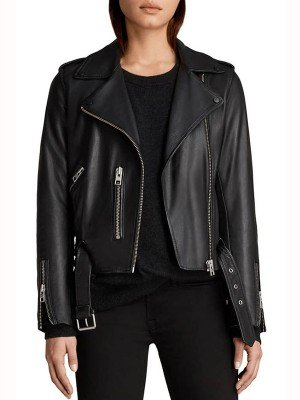The Perfectionist Caitlin Lewis Black Leather Jacket
