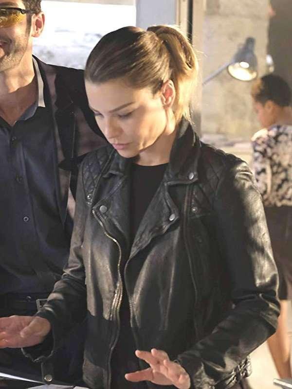 TV Series Lucifer Lauren German Black Leather Jacket