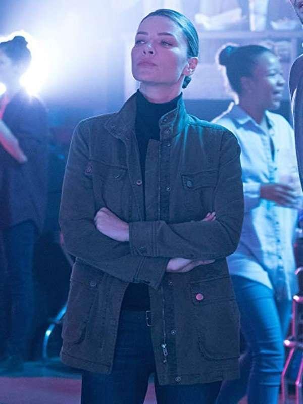 TV Series Lucifer Lauren German Military Green Cotton Jacket