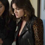 TV Series Pretty Little Liars Aria Montgomery Black Leather Jacket