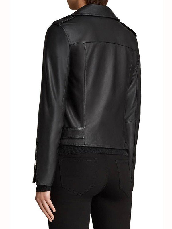 The Perfectionist Sydney Park Black Motorcycle Jacket
