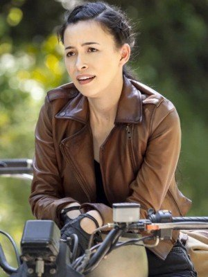 The Walking Dead Season 9 Christian Serratos Leather Jacket
