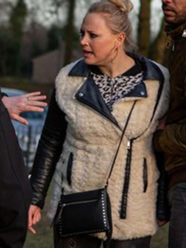 Tracy Metcalfe Emmerdale Shearling Fur Jacket