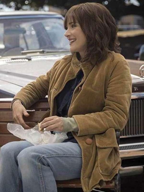 Winona Ryder TV Series Stranger Things Corduroy Jacket
