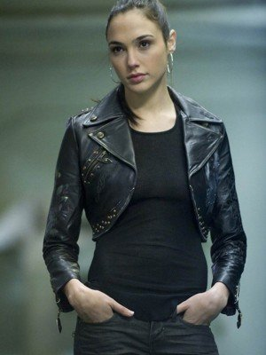 Justice League Gal Gadot Short Body Leather Jacket
