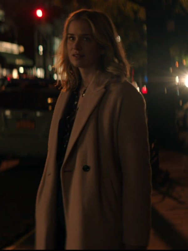You Elizabeth Lail Pink Trench Coat