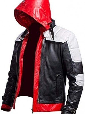 Bat Logo Red Hood Arkham Knight Jacket