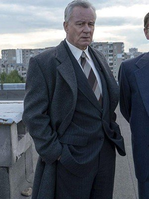Boris Shcherbina TV Series Chernobyl Black Trench Coat