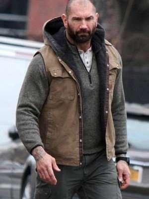 Dave Bautista Bushwick Stupe Cotton Vest