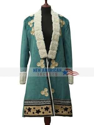 Cara Delevingne Carnival Row Suede Coat
