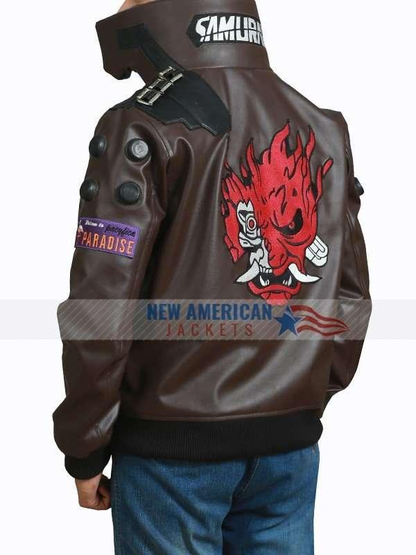 Cyberpunk 2077 Bomber Leather Jacket