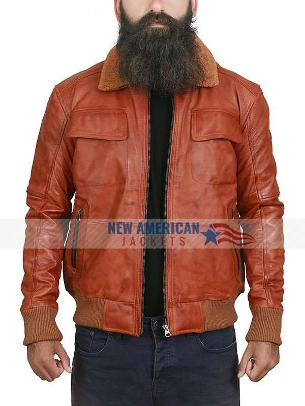 Danny Brown Tan Shearling Jacket