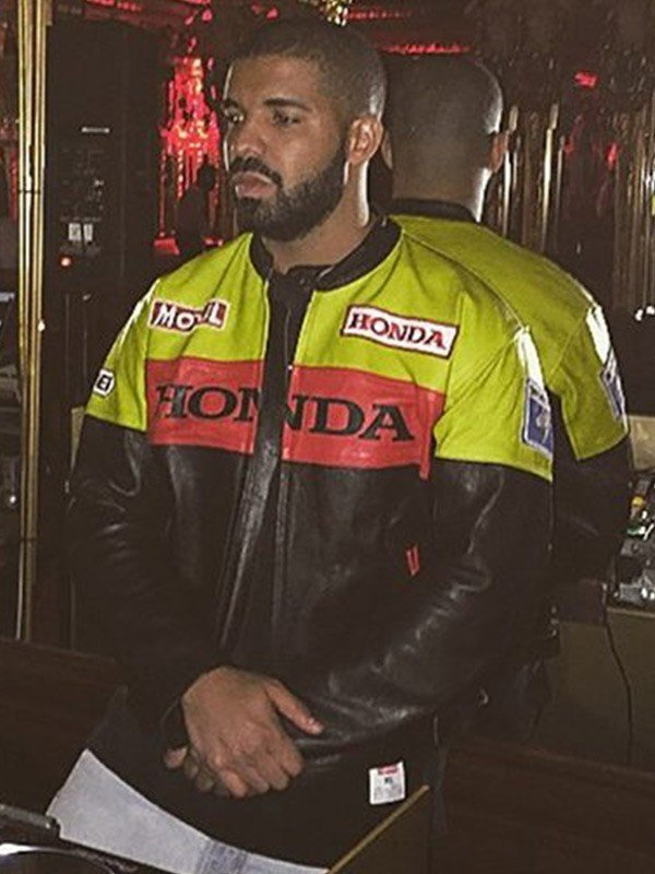 Drake Honda Moto Leather Jacket