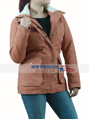 Kelsey Asbille Yellowstone Brown Cotton Jacket