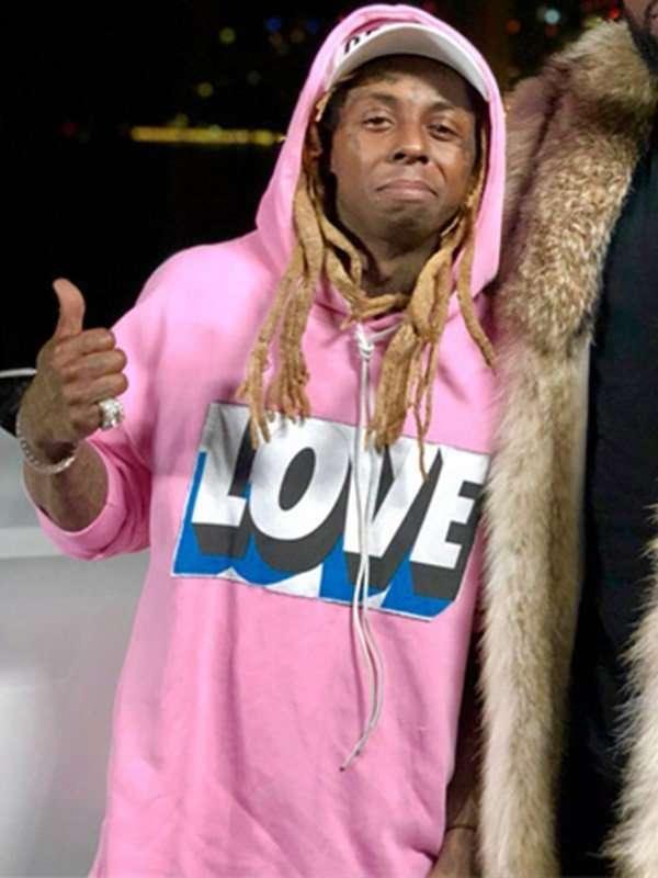 Lil Wayne love pink hoodie