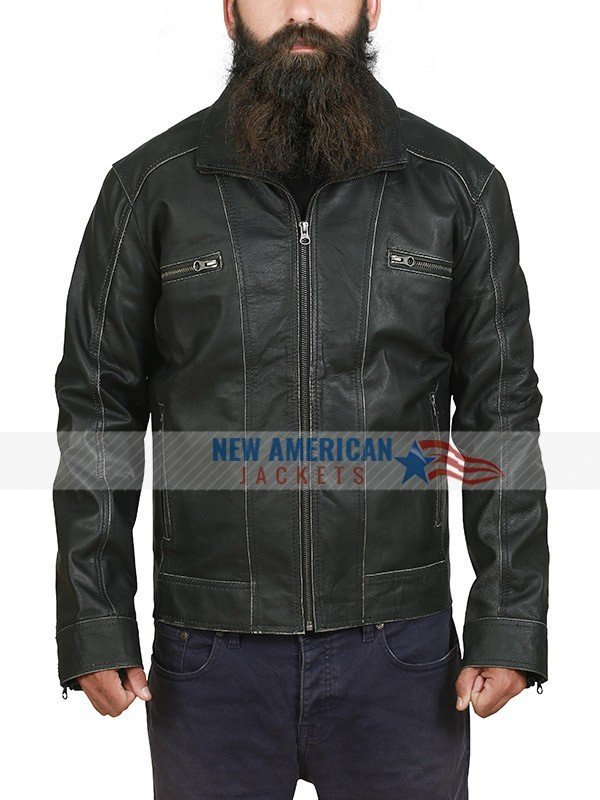 Lucas Black Biker Leather Jacket