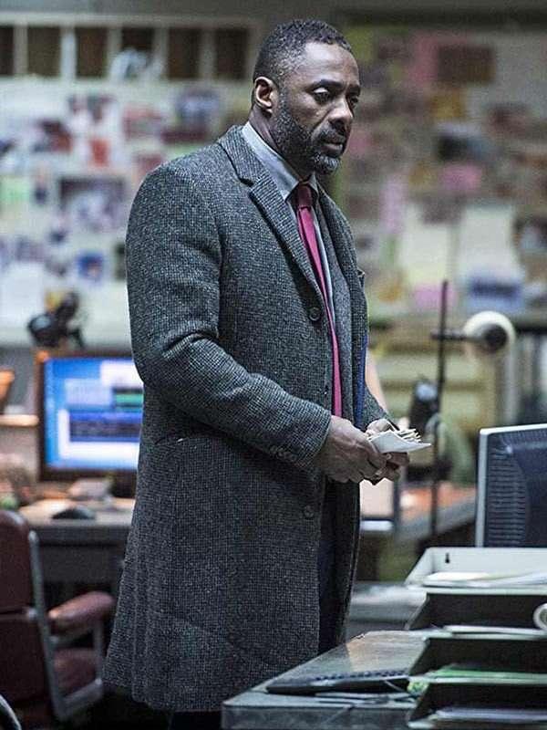 Luther Idris Elba Grey Coat