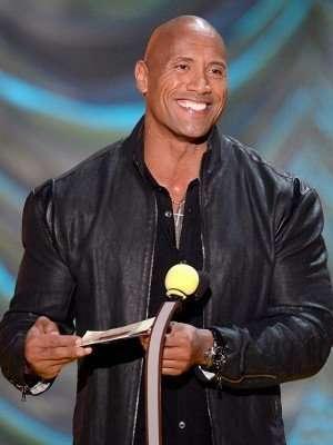 Dwayne Johnson MTV Movie Awards Leather Jacket
