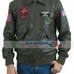 Maverick Green Bomber Jacket