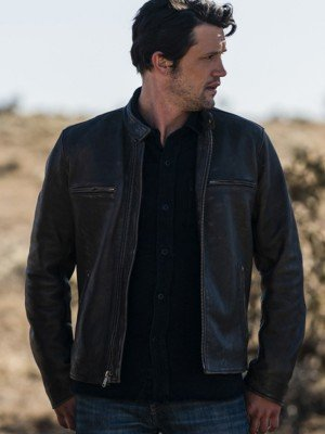 Roswell New Mexico Nathan Parsons Black Leather Jacket