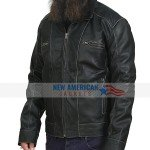 Men's Lucas Black Biker Leather Jacket