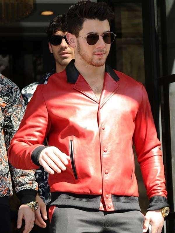 Nick Jonas Leather Jacket