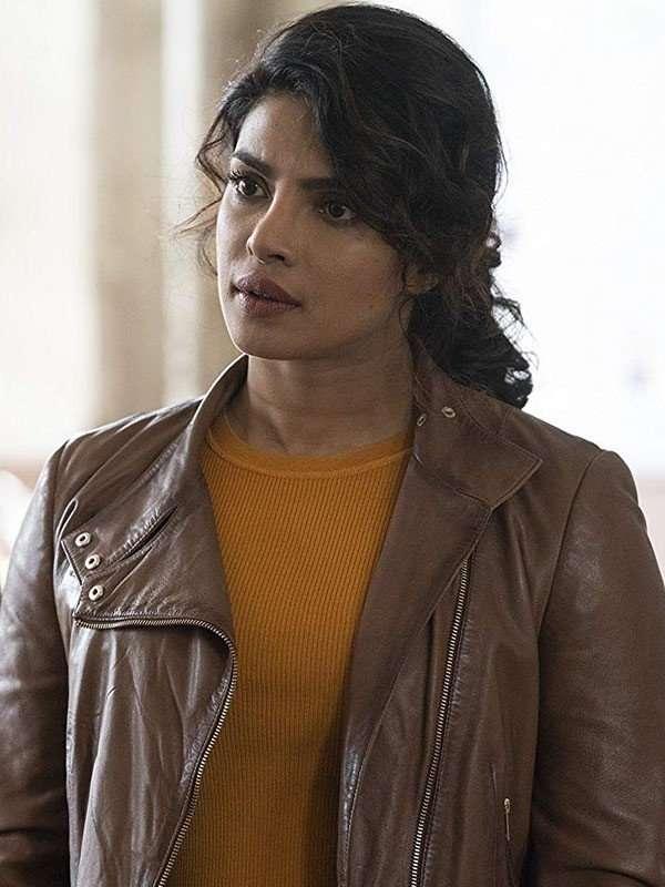 Priyanka Chopra Quantico Brown Jacket