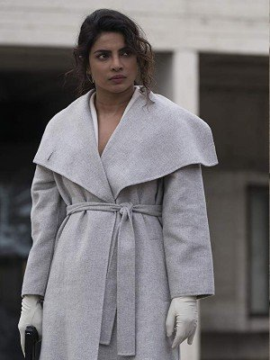 """Priyanka Chopra Quantico Grey Wool Coat """