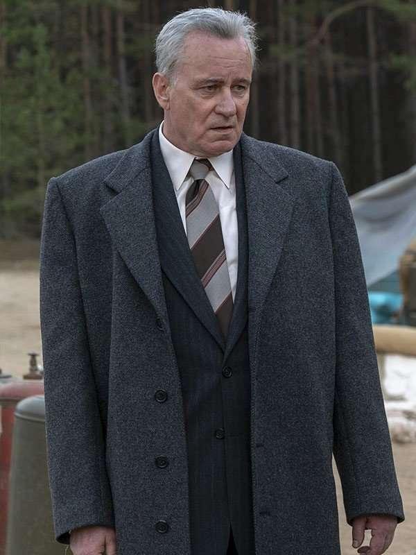 Stellan Skarsgård Chernobyl Black Wool Coat