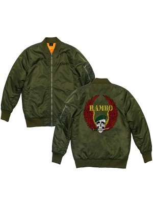 Rambo 5 Last Blood Skull Green Bomber Jacket
