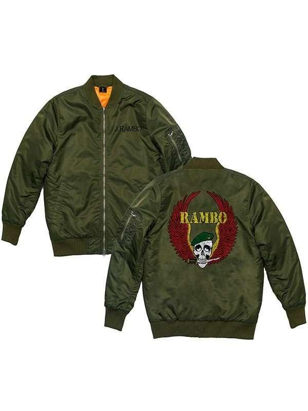 Sylvester Stallone Rambo 5 Last Blood Green Jacket
