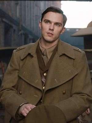 Nicholas Hoult Tolkien Olive Green Coat