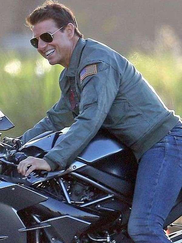 Tom Cruise Top Gun Green Bomber Jacket