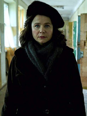 Emily Watson Chernobyl Suede Leather Coat