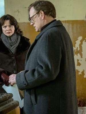 Jared Harris Chernobyl Black Wool Coat