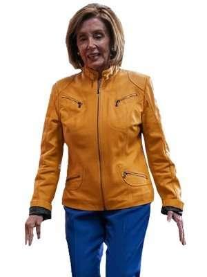 nancy pelosi yellow jacket