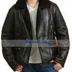 B3 Aviator Real Shearling Bomber Leather Jacket