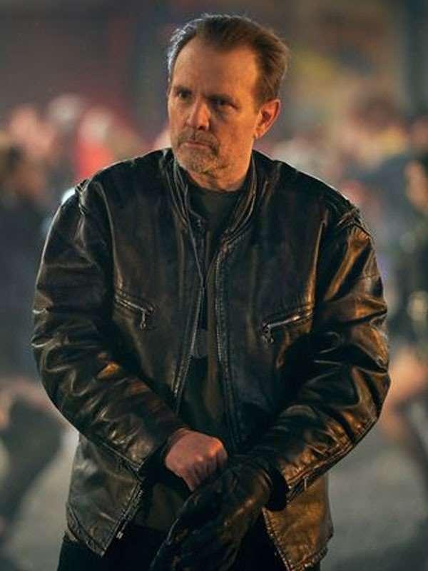 Curfew Michael Biehn Leather Jacket