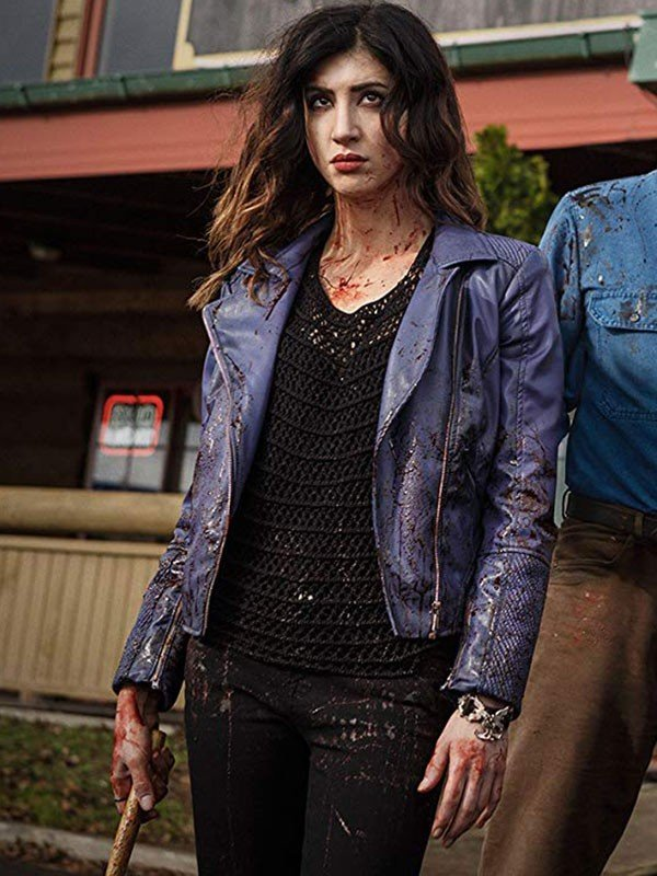 Dana DeLorenzo Ash vs Evil Dead purple Jacket