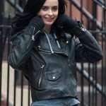 Krysten Ritter Leather Moto Jacket