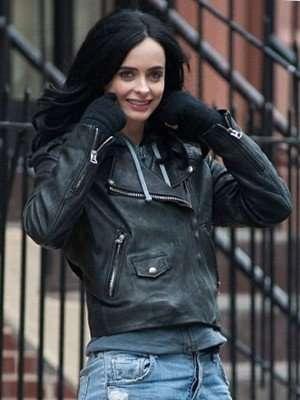 TV Series Jessica Jones Krysten Ritter Leather Jacket