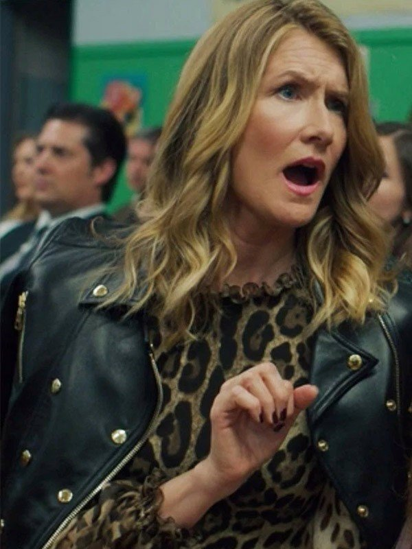 Laura Dern Womens Black Leather Jacket
