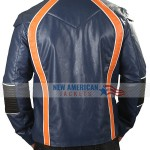Lost in Space Season 2 Robinson Family Blue Leather Jacket