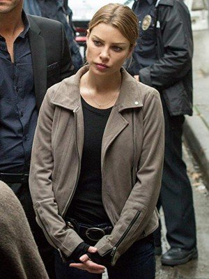 Lucifer Lauren German Grey Biker Leather Jacket