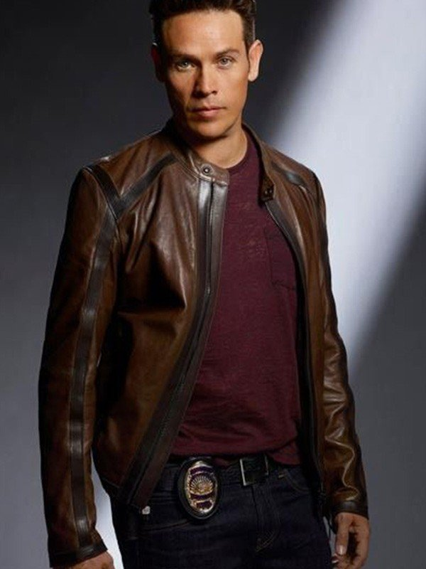 Lucifer Dan Espinoza Brown Leather Jacket