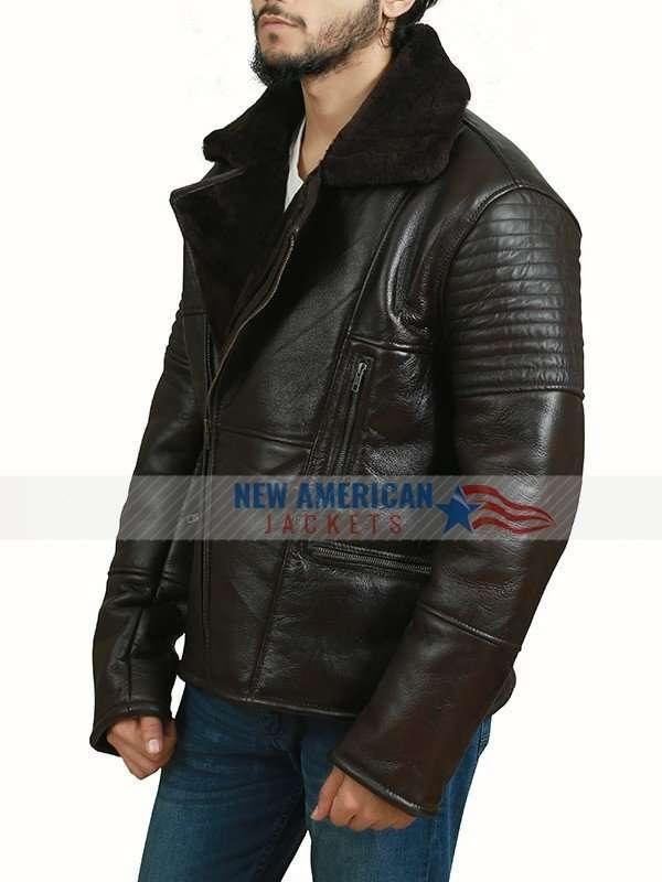 Shearling RAF Bomber Leather Jacket