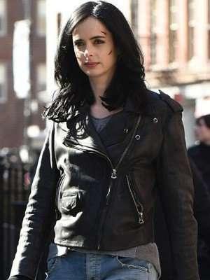Krysten Ritter Jessica Jones Biker Leather Jacket